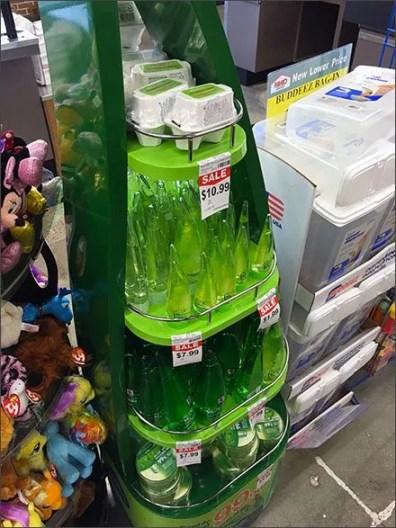 Aloe Teardrop Merchandising Display