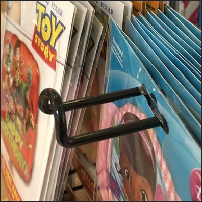 Balloon Loop Hook Spinner Rack Detail In Closeup