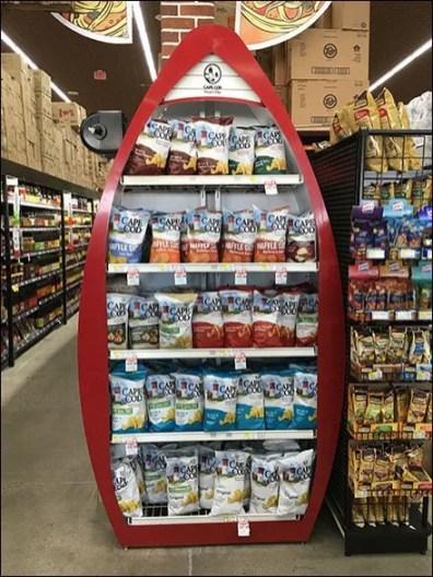 Cape Cod Potato Chips Rowboat Display