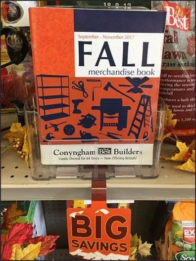 Fall Endcap Merchandising With Dangler