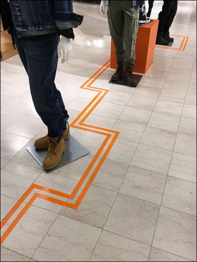 Floor Graphic Zigzag Directional At Macys