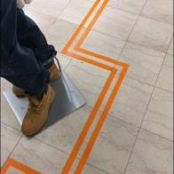 Floor Graphic Zigzag Directional At Macys