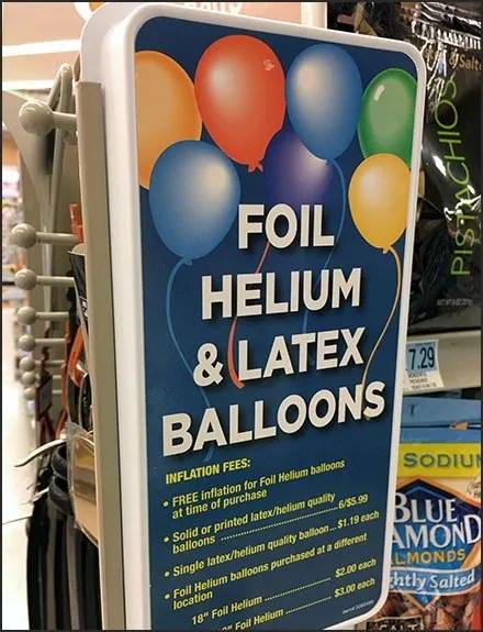 Helium Balloon Pegboard Panel Merchandiser