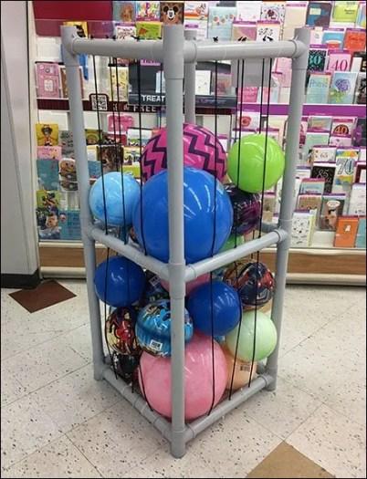 Ball Bulk Bin Freestanding PVC Tower