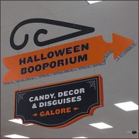 Halloween Booporium Directional Sign