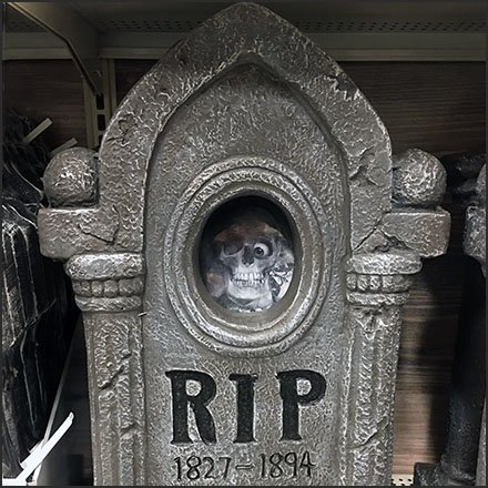 Halloween Gravestone Merchandising Feature