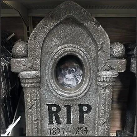Halloween Gravestone Merchandising Feature