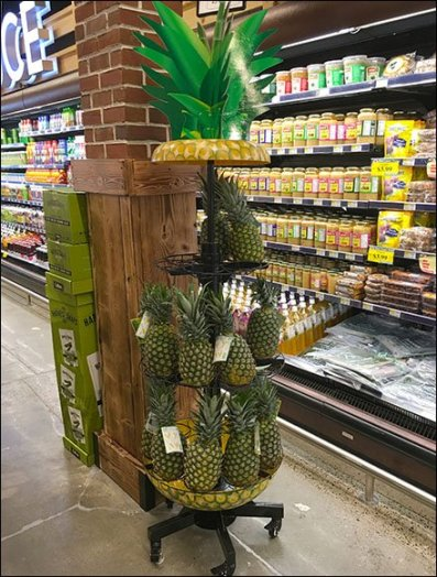 Fresh Pineapple Open Wire Ring Tower