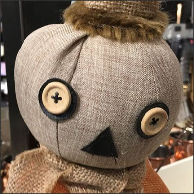 Nordstrom Handcrafted Halloween Pumpkin Head Doll Hero Feature