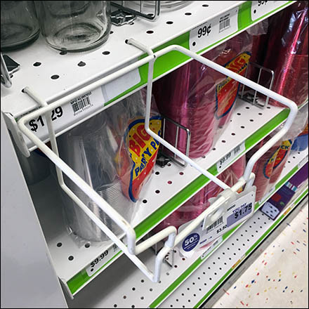 Single-Wide Open Wire Tray for Shelf Edge