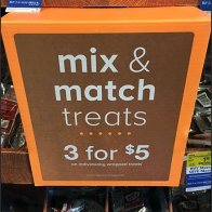 Three-Fer Endcap of Treat Shoppe Mix & Match
