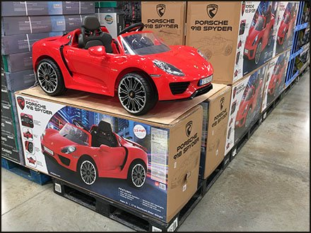Kids Cars And Toy Wagon Merchandising - Porsche 918 Spyder Pallet-load Sales