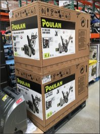 Poulan Snowblower Try-Me Display In-Store