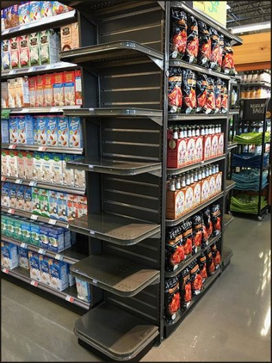 Round-Corner Endcap And Wing Wall Shelves
