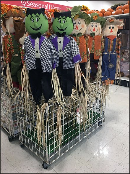 Display Dividers for Scarecrow Merchandising