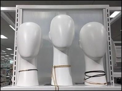 Simple Headform Elegance For Fashion Jewelry