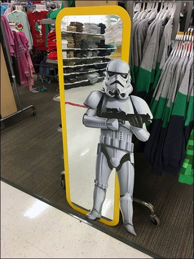 Star Wars Mylar Mirror for Children