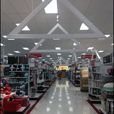 Ceiling Space Frame Trusses Run The Aisle