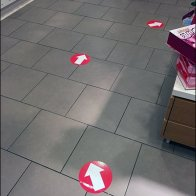 Floor Graphic Breadcrumb Trail to Store Checkout