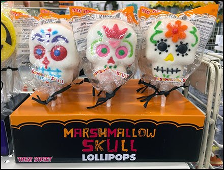 Treat Street Marshmallow Skull Lollipop Display