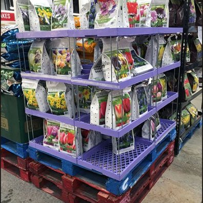 Plastic and Wireform Tulip Merchandiser