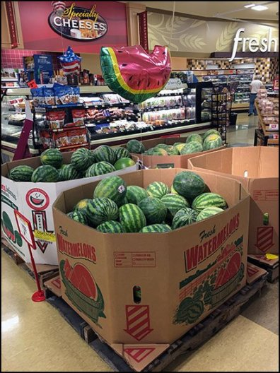 Watermelon Inflatable Points The Way In Produce