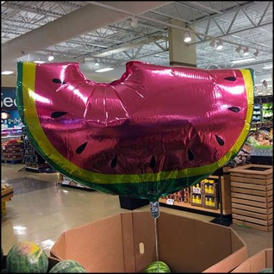 Watermelon Inflatable in Produce Feature