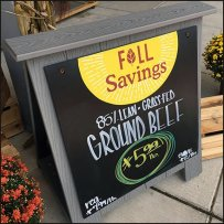 Fall Savings Entry Easel at Whole Foods