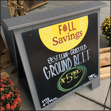 Whole Foods Fall Savings Entry Easel Feature