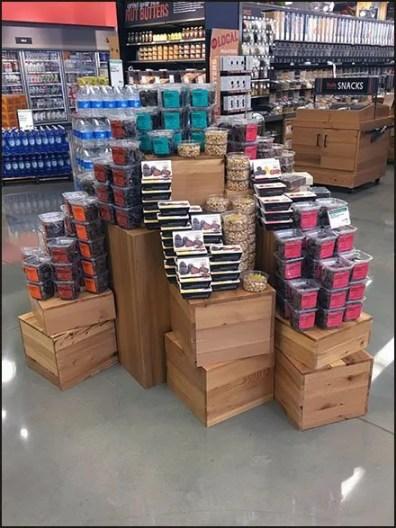 Wood Crate Pedestal Island Display
