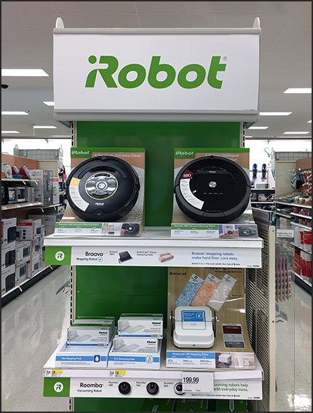 iRobot Roomba Branded Endcap Display