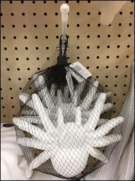 Spider Mesh Bag Merchandising By Pegboard Hook