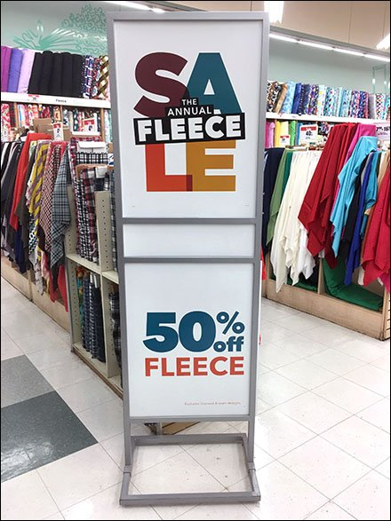 Annual Fleece Sale Vertical Sign Stand