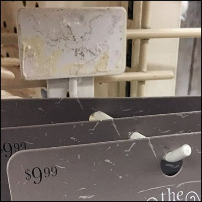 Back Labeled Display Hook For Carded Spiders