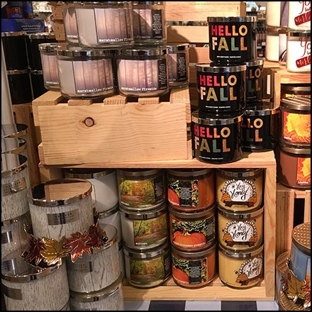 Bath & Body Works Fall Wood Crate Display Feature