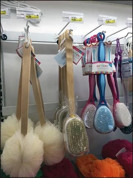 Bar-Mount Bath Brush Scan Hooks