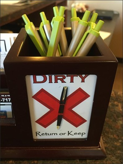 Recycle or Reuse Clean vs Dirty Pens