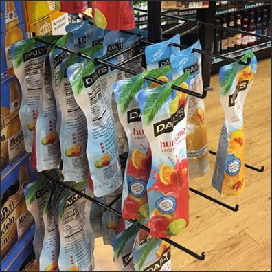 Daily's Cocktail Pouch Merchandising Hooked Feature