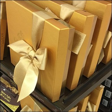 Godiva Be-Ribboned Box Presentation at Bon-Ton