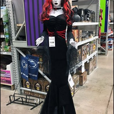 Black Widow Halloween Doll Spokesmodel