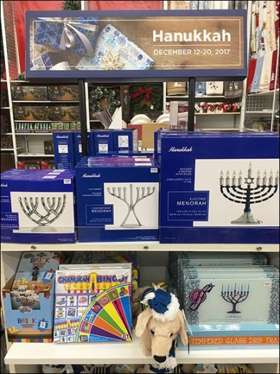 Hanukkah Starts With An Endcap Display