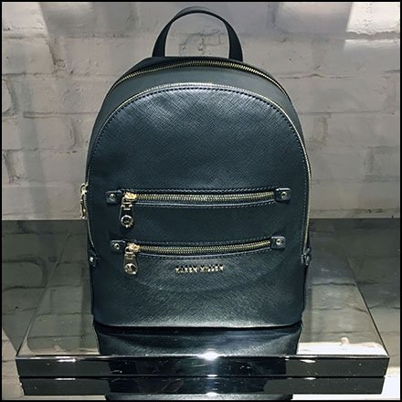 Backpack Black Chrome Pedestal Plinth at Karen Millen