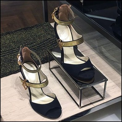 High Heel Black Chrome Riser at Karen Millen