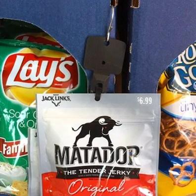 Matador Beef Jerky Merchandiser Strip In Black