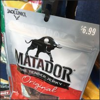 Matador Beef Jerky Merchandiser Strip In Black