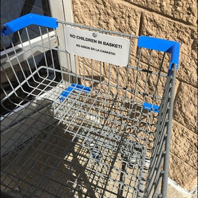 Bilingual No Children in The Shopping Cart