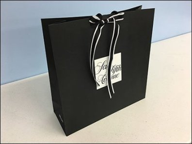 Saks Fifth Avenue Ribbon Tie Branded Shopping Bag 2