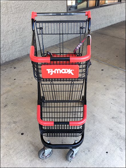 TJMaxx Store Fixtures - I Brake For Fashion Shopping Cart at T.J.Maxx