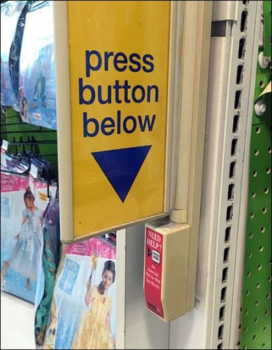 Oversize Sign For Undersize Call Button