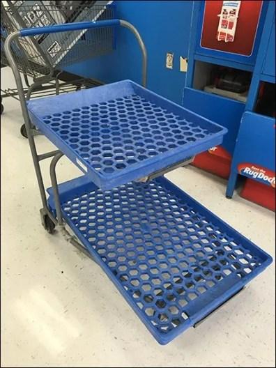Twin Tier Shopping Trolley With Hexagonal Decks